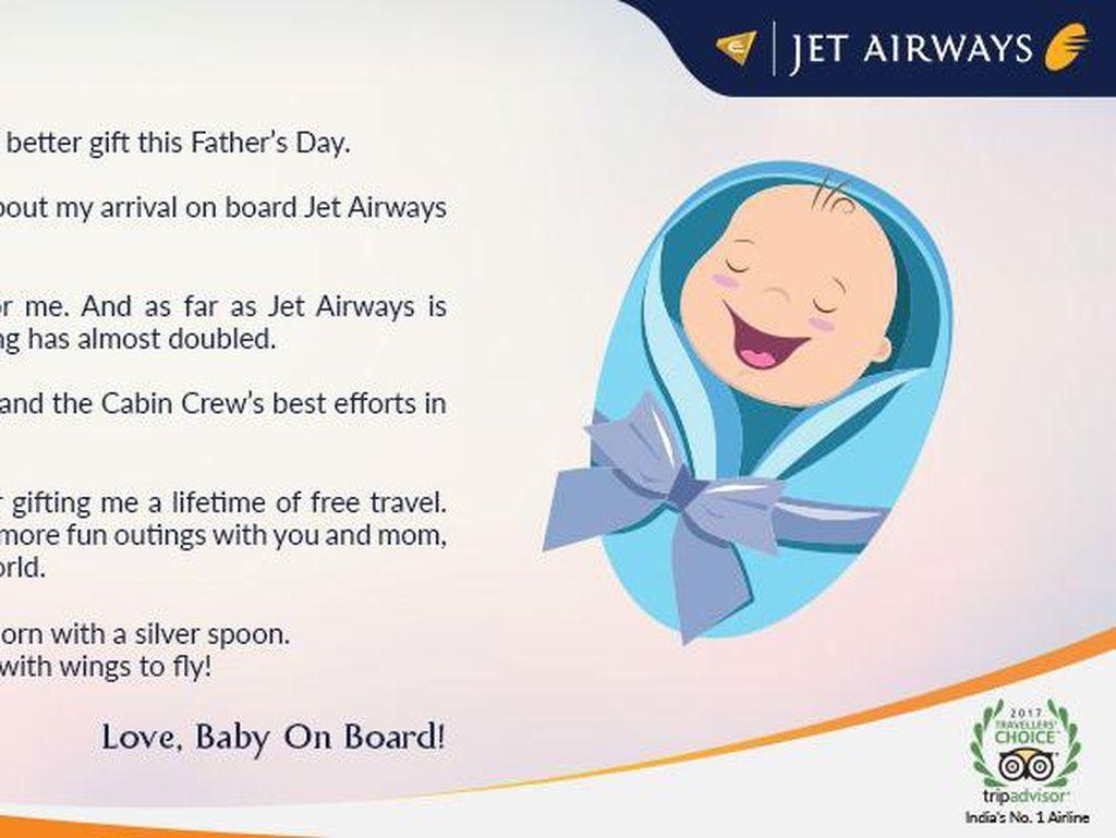 Lahir di Pesawat, Bayi Ini Dapat Hadiah Terbaik dari Maskapai