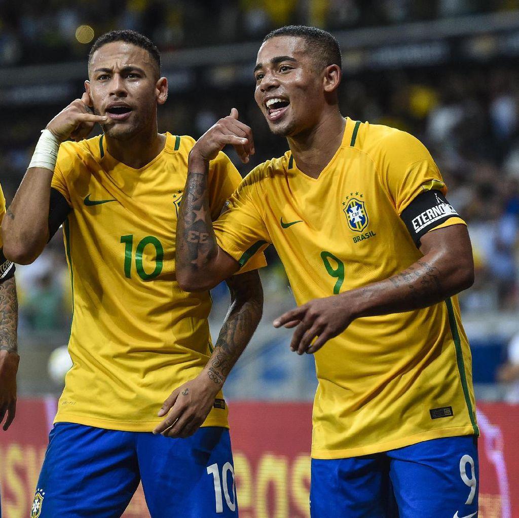 Brasil Butuh Lebih dari Neymar dan Gabriel Jesus untuk Juara Piala Dunia