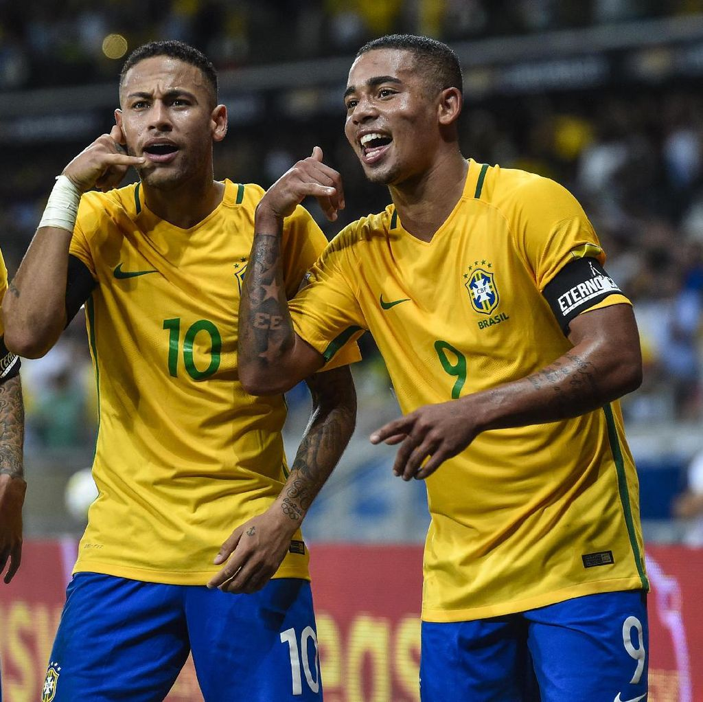 Neymar Curhat ke Gabriel Jesus Soal Cedera Metatarsalnya