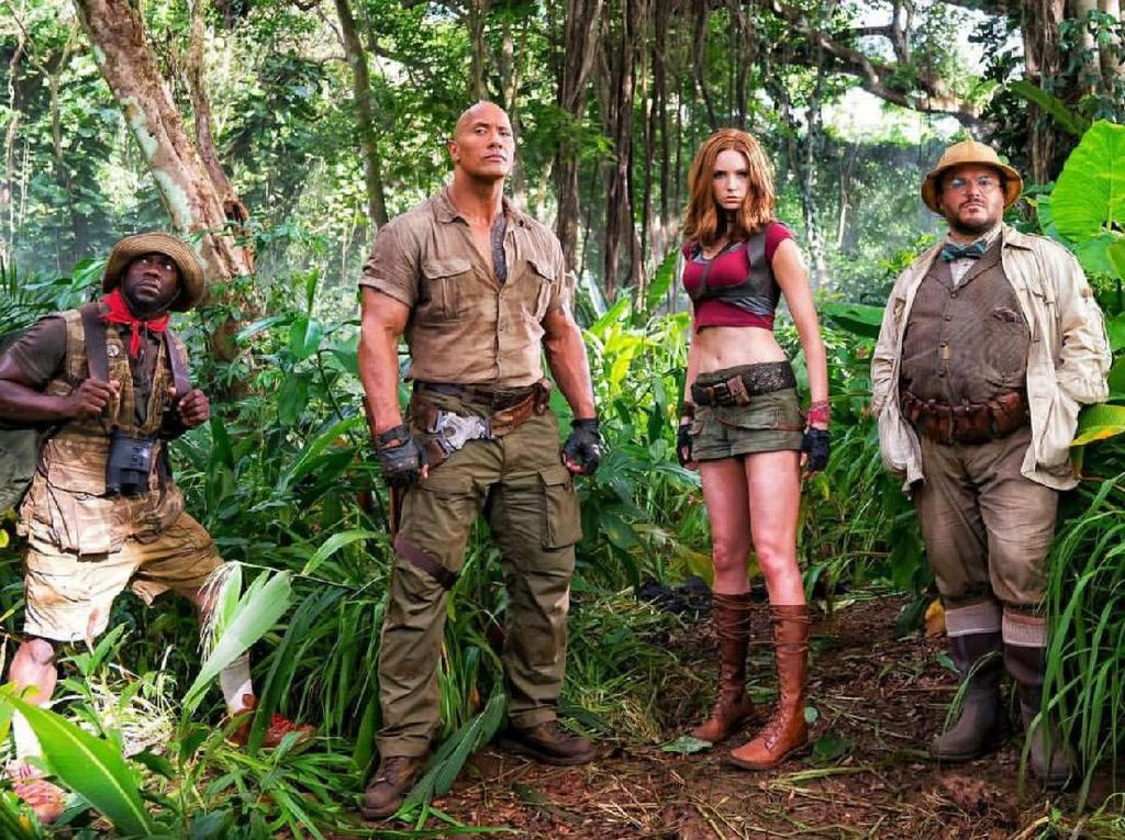 Lihat Adegan Keren Jumanji: Welcome to the Jungle