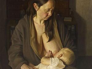 Lukisan Ibu Menyusui Jadi Pemenang Kompetisi Potret Bergengsi