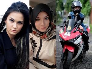 Kia Poetri, Aktris dan Freestyler Motor yang Cantik Berhijab