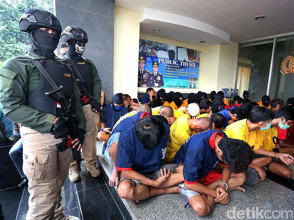 Operasi Cipta Kondisi Polda Metro Amankan Puluhan Preman