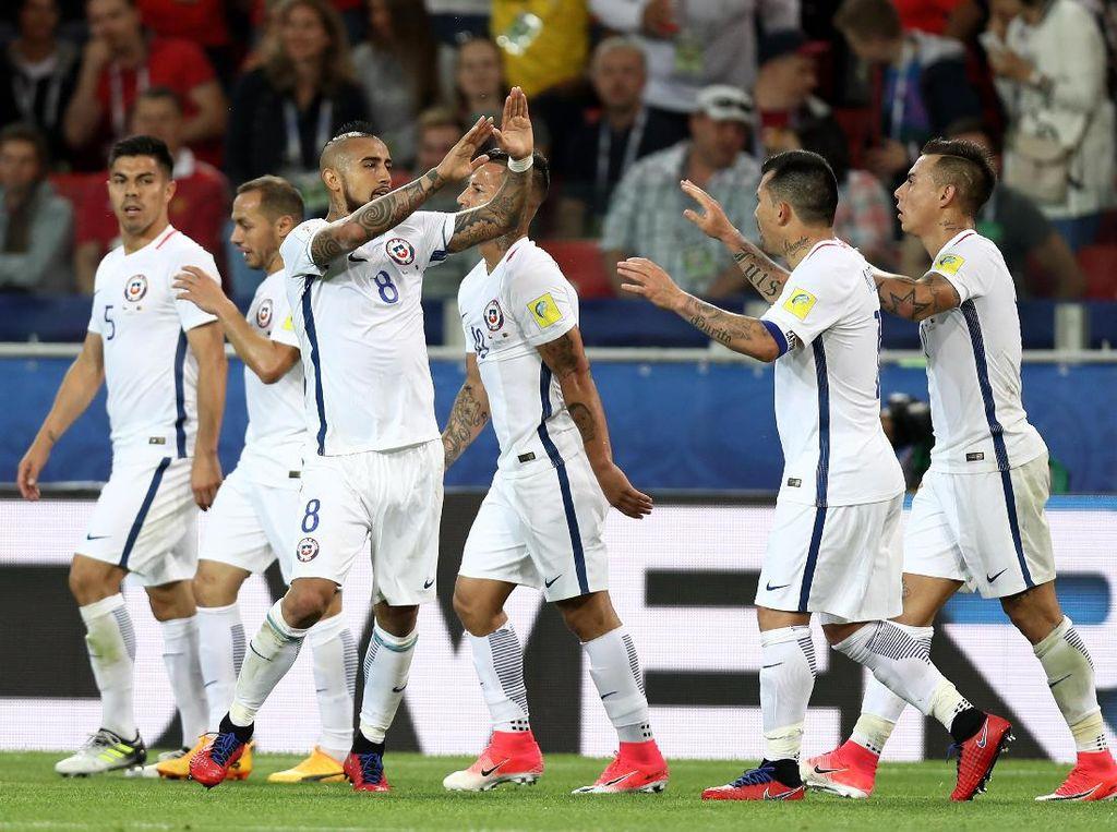 Vidal: Chile Bisa Juarai Piala Konfederasi dan Bersaing di Piala Dunia