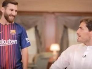 Begini Respons Casillas Ketika Jumpa Kembaran Messi
