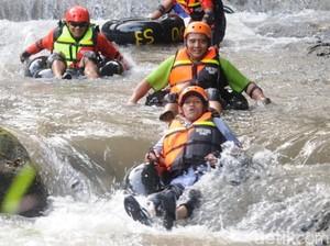 Libur Lebaran, Rasakan Sensasi Susur Sungai di Sawit, Boyolali