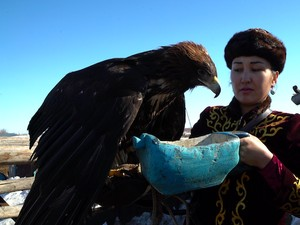 Muslimah Perkasa Pemburu dengan Elang dari Kazakhstan