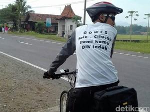 Daud Mudik Naik Sepeda dari Solo ke Cilacap demi Rujuk dengan Istri