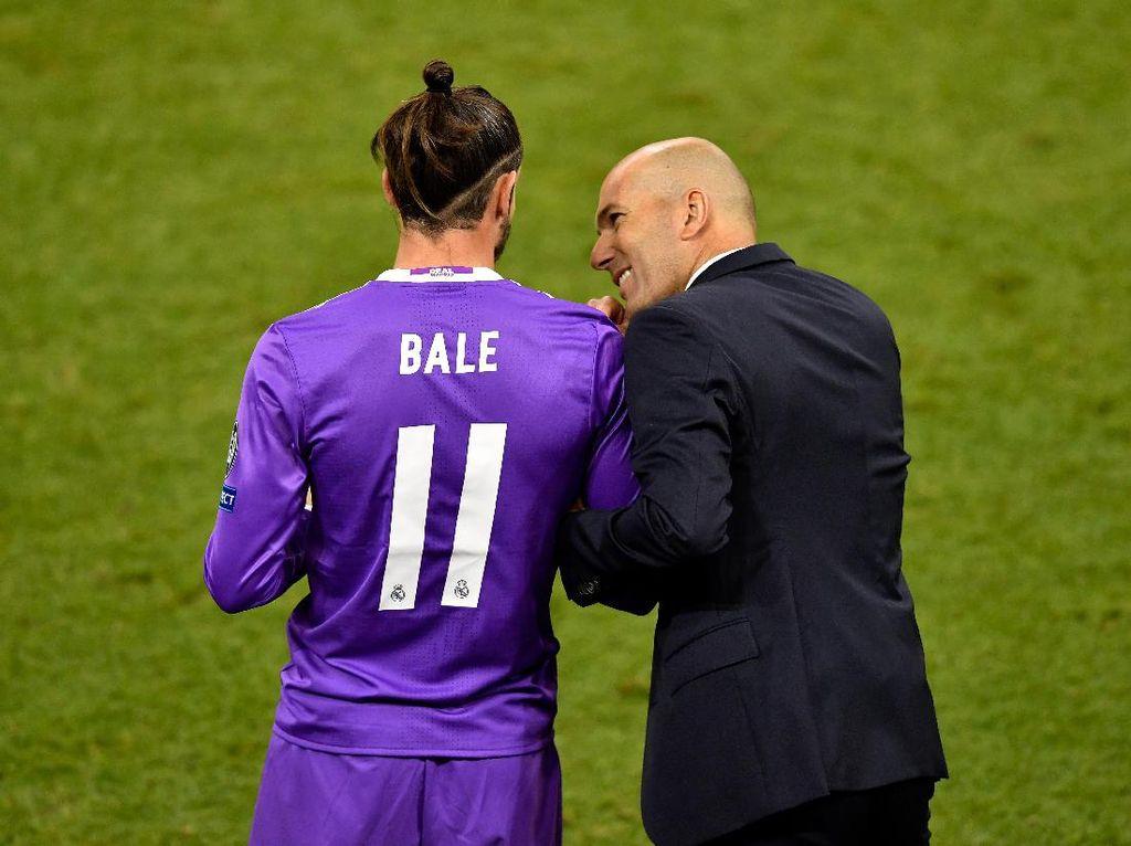 Zidane Ingin Bale Bertahan di Madrid Sampai Akhir Musim