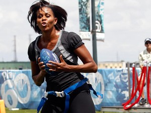 Foto: Gaya <i>Sporty</i> Michelle Obama yang Seksi dan Memukau