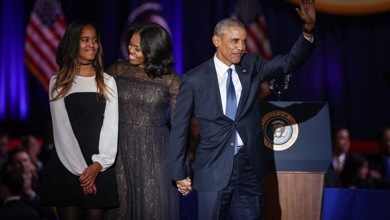 Barack Obama dan Keluarga (shutterstock)