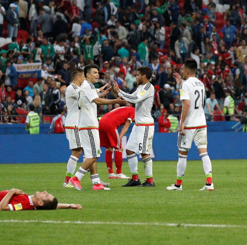 Meksiko Tembus Semifinal, Rusia Tersingkir