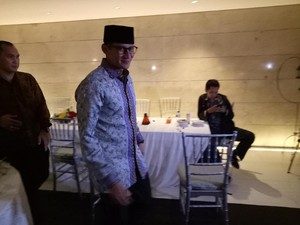 Tak Ditemani Anies, Sandiaga Hadiri Open House Novanto