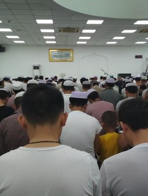 Salat Id Hari Senin di Satu-satunya Masjid di Xiamen