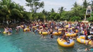 Libur Lebaran, Pengunjung Padati Taman Impian Jaya Ancol