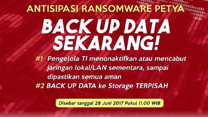 Antisipasi Serangan Petya, Menkominfo Serukan Pengamanan Data
