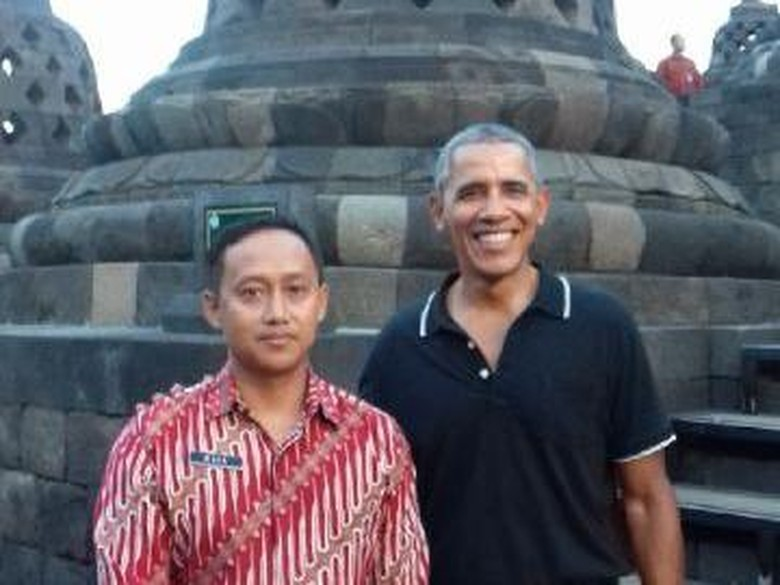 Kesan Mura Dampingi Obama Keliling Candi Borobudur