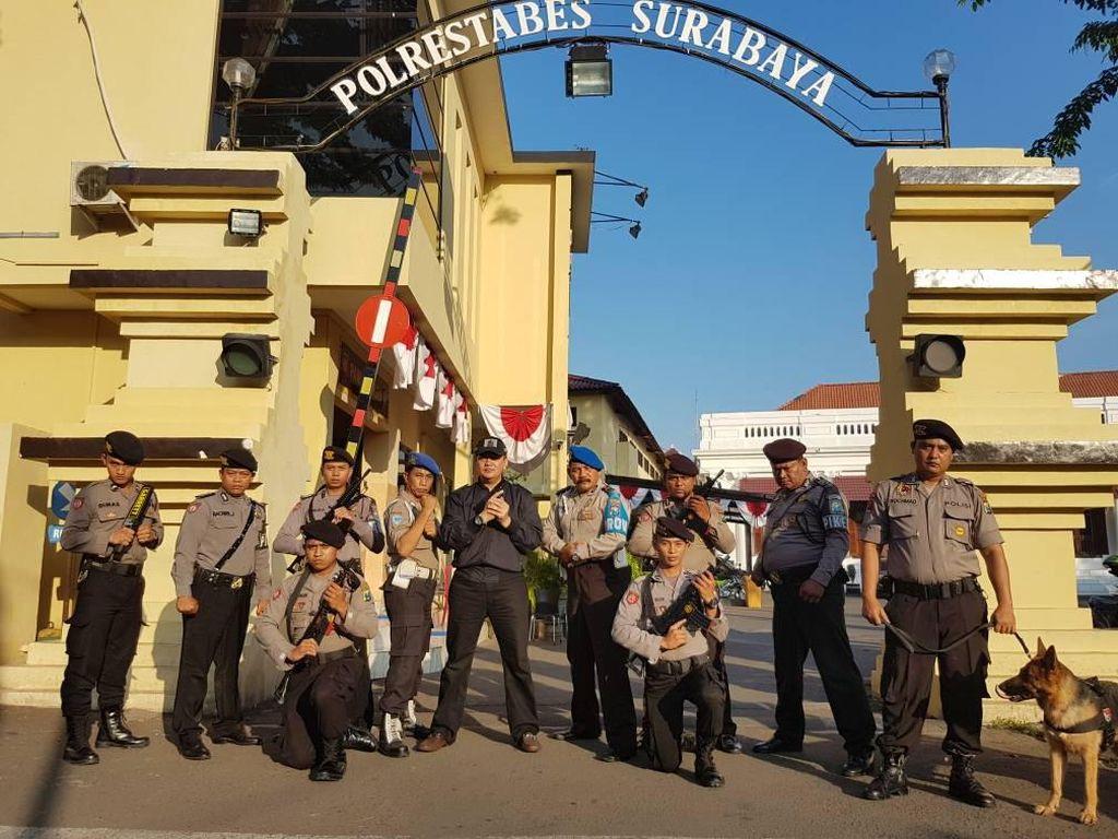 Pengamanan di Mapolrestabes Surabaya 1 Juli Super Ketat, Mengapa?