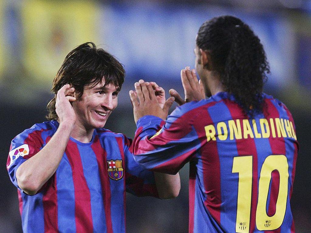 Messi Rogoh Rp 65 Miliar untuk Bebaskan Ronaldinho dari Penjara?