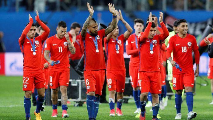 Chile harus puas jadi runner-up di Piala Konfederasi 2017 (Foto: REUTERS/Darren Staples)