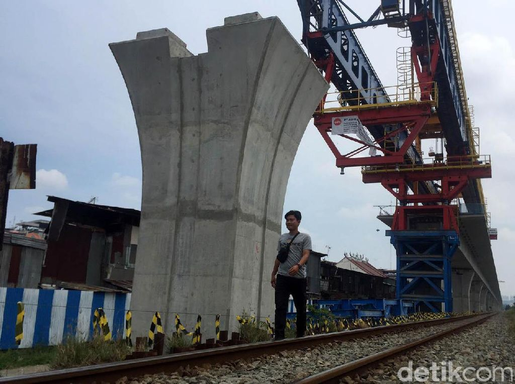Ini Penampakan Proyek Kereta Api Layang di Medan