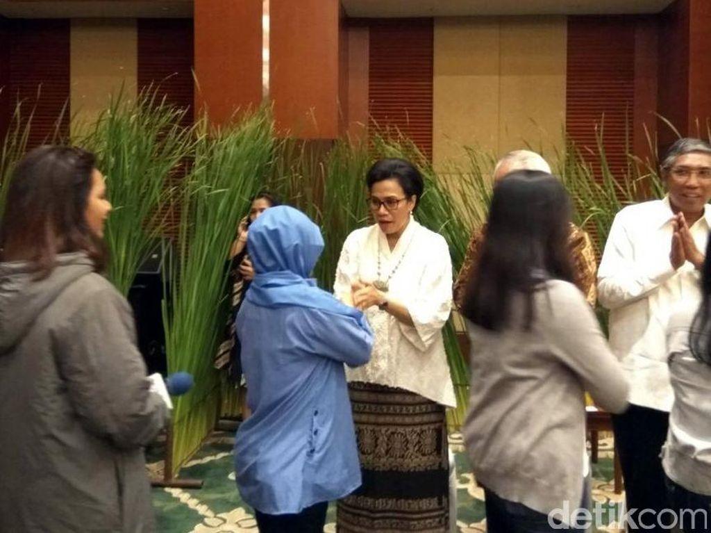 Sri Mulyani Halal Bihalal dengan Pegawai di Kementerian Keuangan