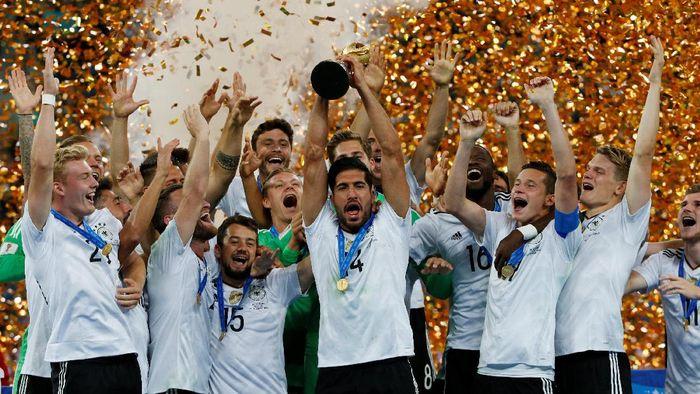 Jerman menempati posisi nomor satu dunia lagi setelah menjuarai Piala Konfederasi 2017 (Foto: REUTERS/Carl Recine)
