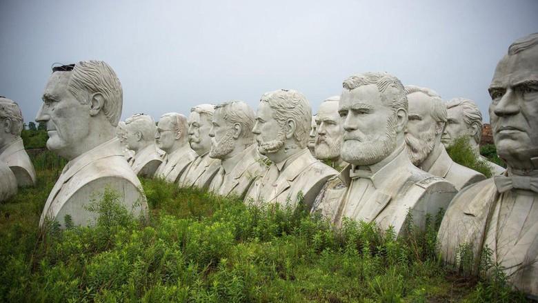 Kasihan! Taman Patung 43 Presiden Amerika Kini Tak Terurus