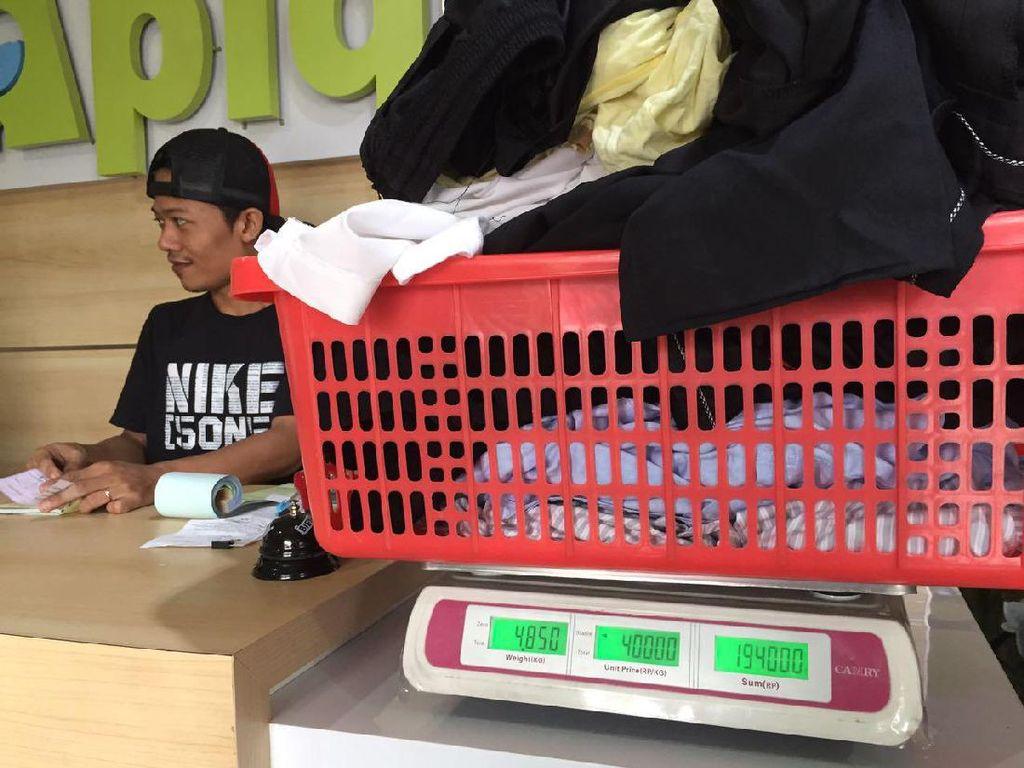 Jasa Laundry Raup Omzet Rp 5 Juta/Hari Pasca Libur Lebaran