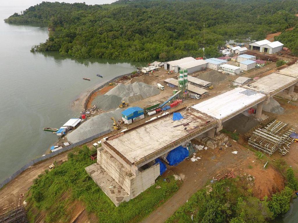 Foto: Mengintip Pembangunan Jembatan Terpanjang di Balikpapan