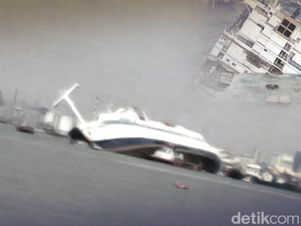 Petugas Investigasi Penyebab Kecelakaan Kapal di Selat Sunda
