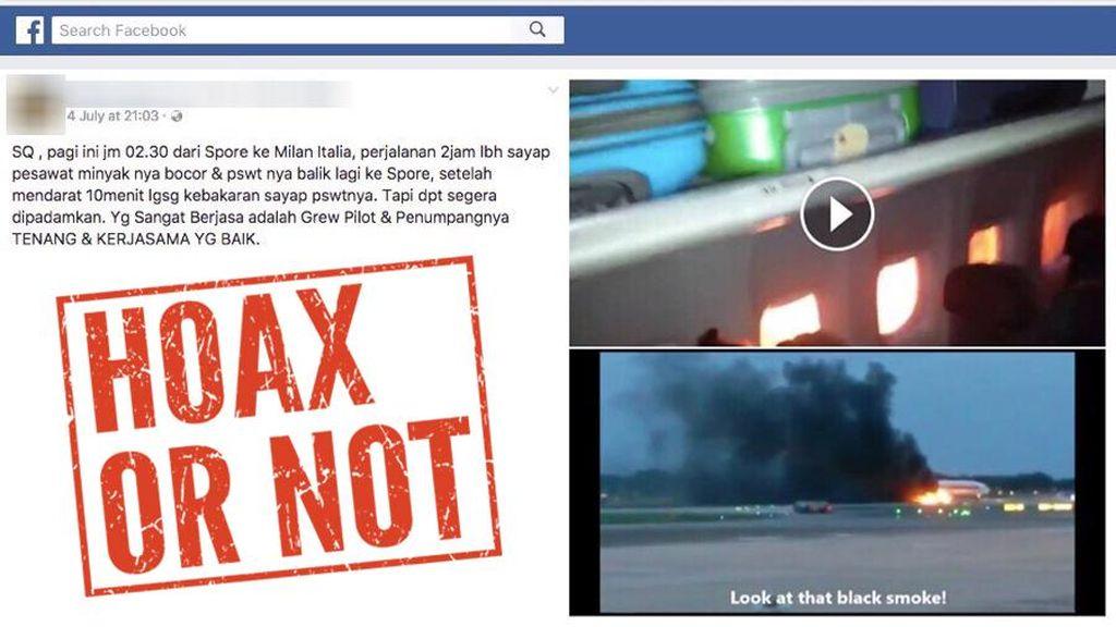 Ramai Kabar Singapore Airlines Terbakar di Changi, Kejadian Kapan?