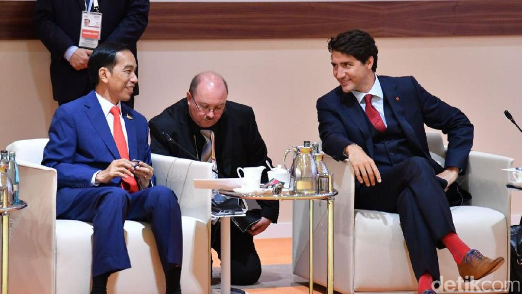 Keakraban Jokowi dengan 2 Pemimpin Muda: Trudeau dan Macron