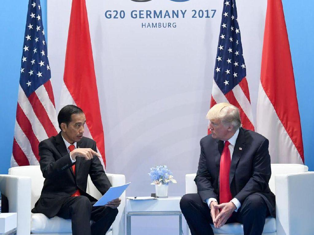 Bertemu Trump dan PM Rutte, Jokowi Bahas Penanggulangan Terorisme