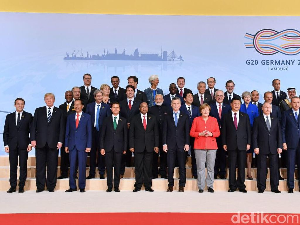 Donald Trump dan Angela Merkel, Momen Viral di KTT G20