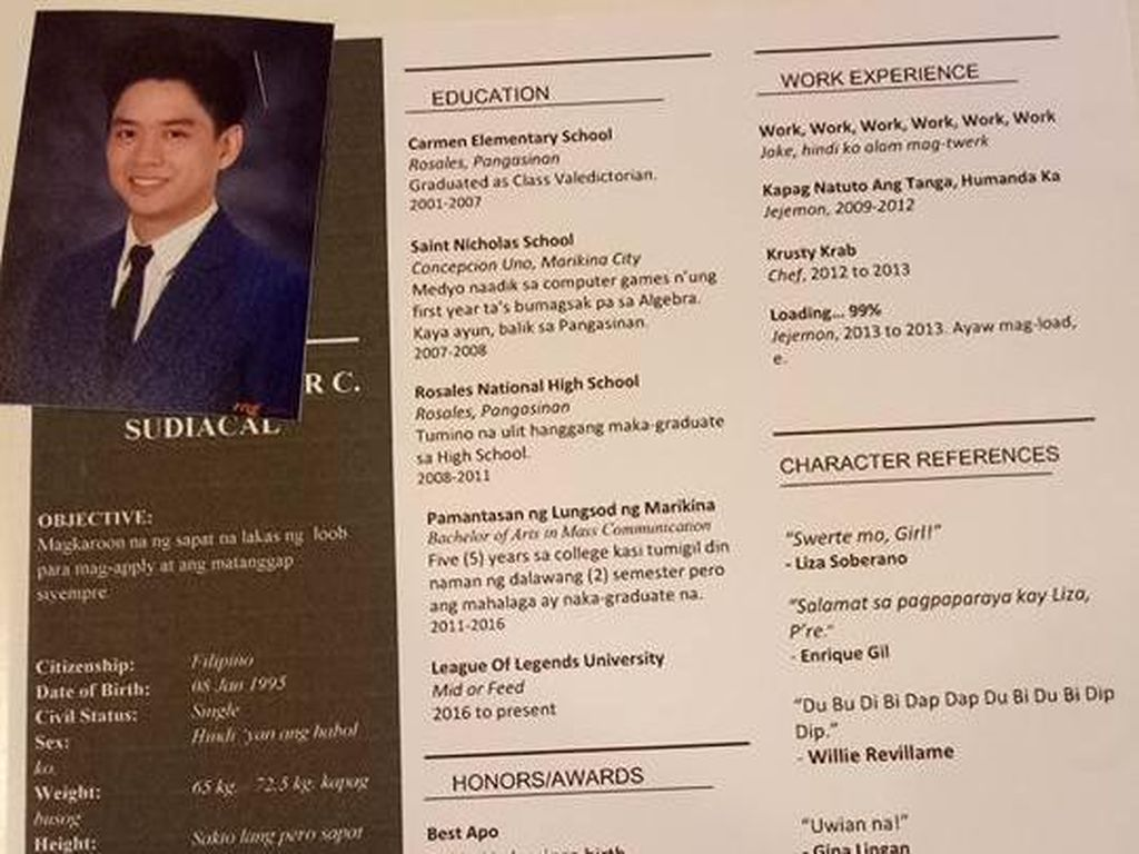Viral, Pria Ini Tulis Surat Lamaran dan CV untuk Nyatakan Cinta