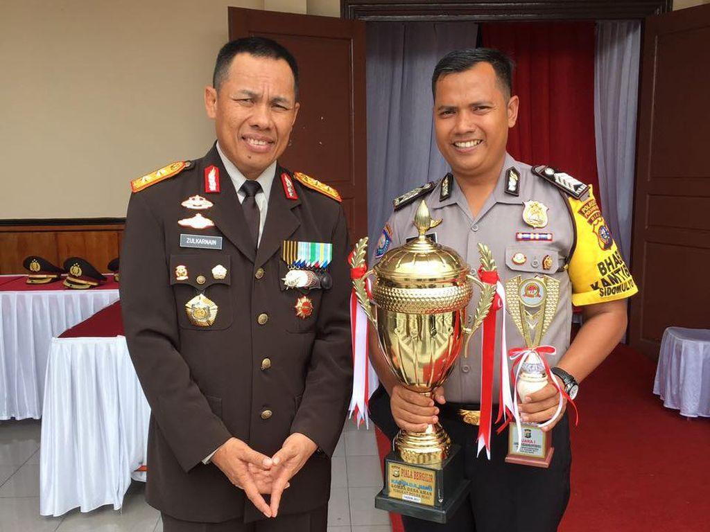 Inovatif, Bripka Ilham Nur Jadi Bhabinkamtibmas Terbaik di Riau