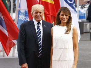 Foto: Selalu Fashionable, Gaya Melania Trump di KTT G20