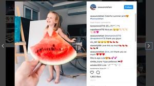 Foto-foto Lucu Model Cilik dengan Busana Sayur dan Buah-buahan