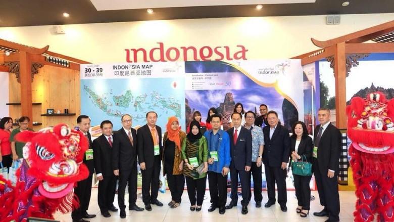 Booth Wonderful Indonesia di MITM Penang 2017 (Foto: dok. Kemenpar)