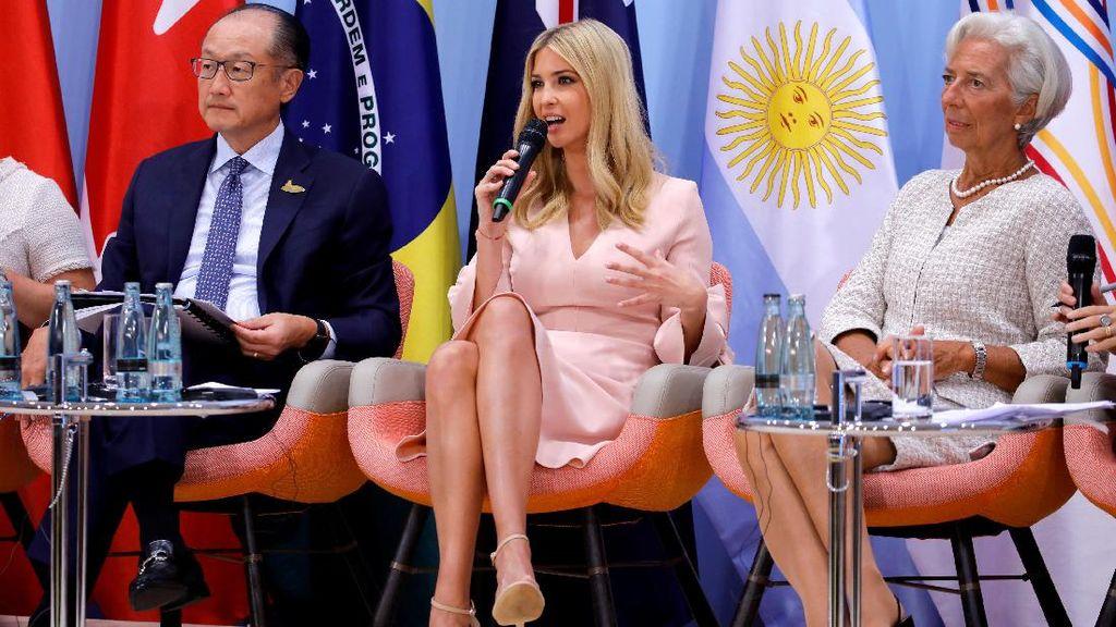 Dikritik Saat Gantikan Ayahnya di KTT G20, Ivanka Dibela Trump