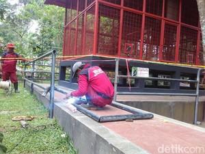 Pagar Pembatas Dipasang di Kandang Siamang Pasca Penyerangan Balita