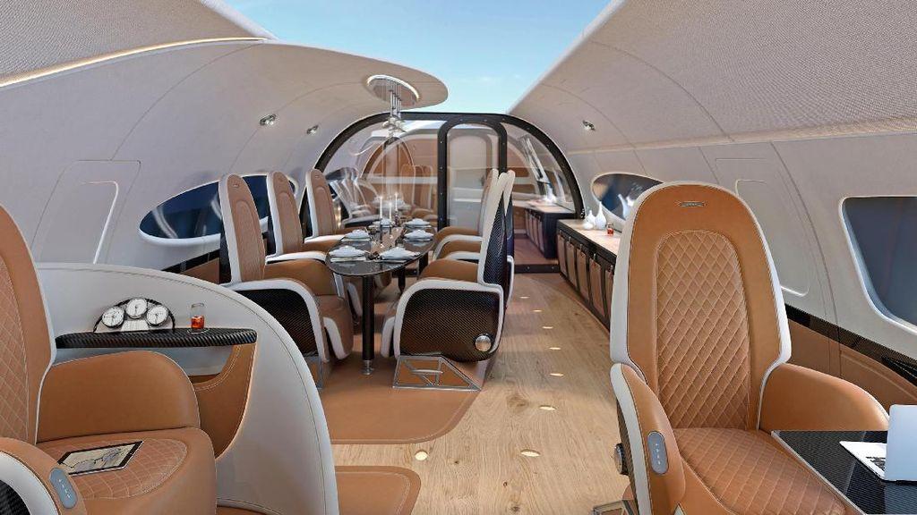 Foto: Jet Pribadi Super Mewah Beratap Transparan