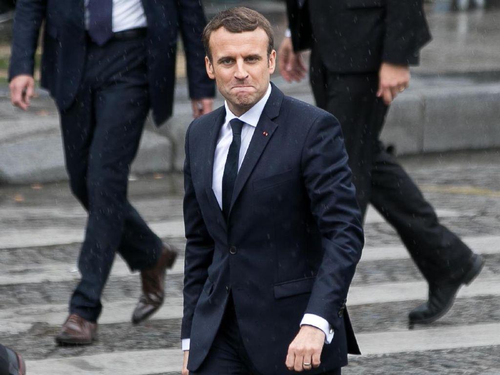 Macron: Prancis Bisa Serang Fasilitas Senjata Kimia Rezim Assad