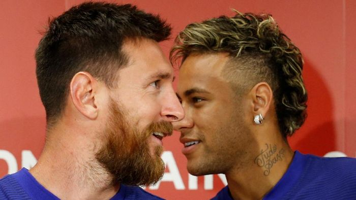 Lionel Messi dan Neymar. (Foto: REUTERS/Kim Kyung-Hoon)