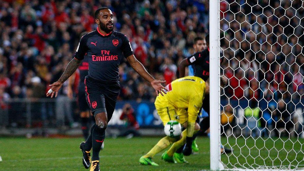 Lacazette di Arsenal: Main 15 Menit, Cetak 1 Gol
