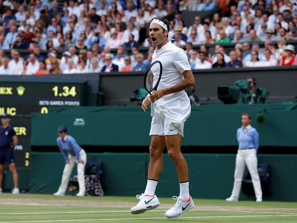 Federer Juara Usai Tundukkan Cilic