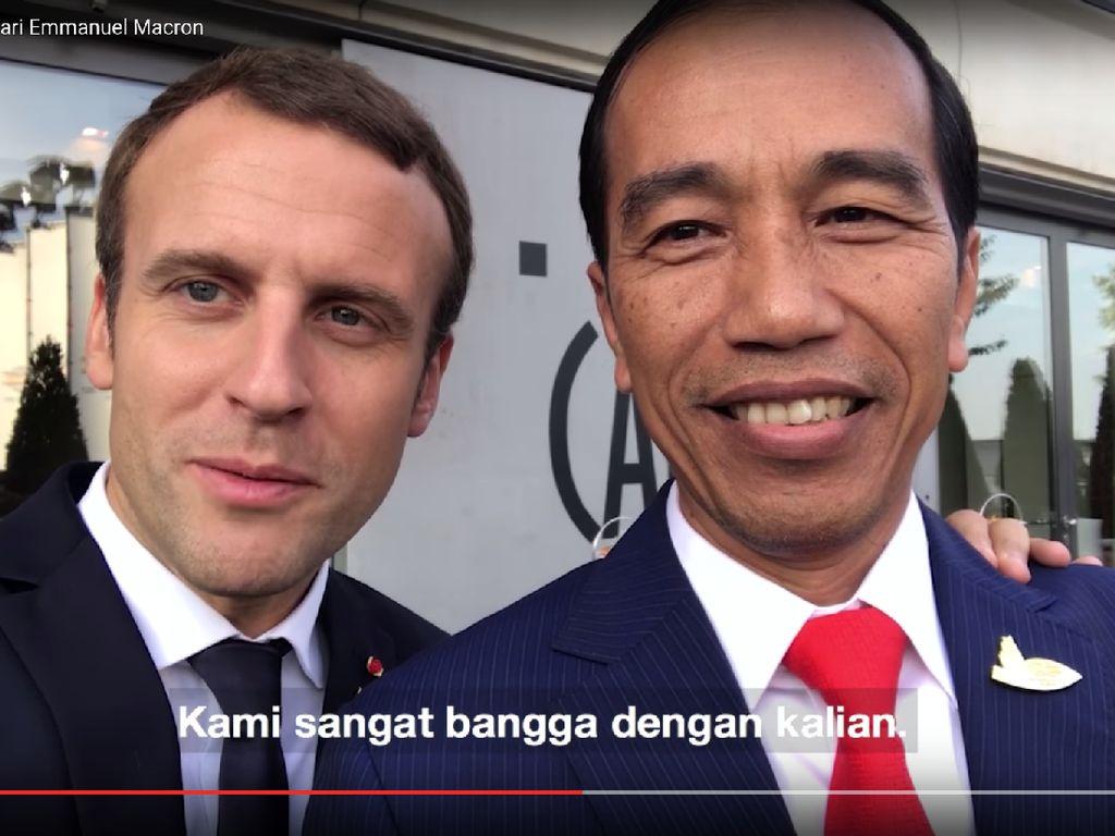 Jokowi Kecam Pernyataan Macron di Tengah Seruan Boikot Produk Prancis