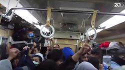 Video Ribuan Laron Serbu Gerbong Commuter Line