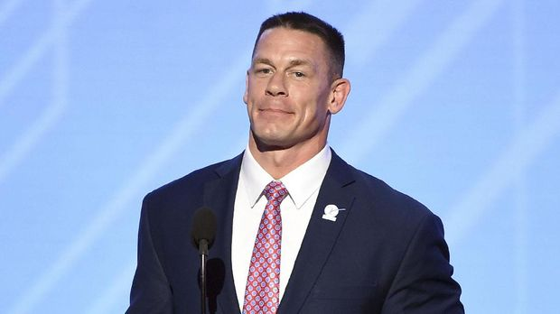 LOS ANGELES, CA - JULY 12: Actor/wrestler John Cena speaks onstage at The 2017 ESPYS at Microsoft Theater on July 12, 2017 in Los Angeles, California.   Kevin Winter/Getty Images/AFP